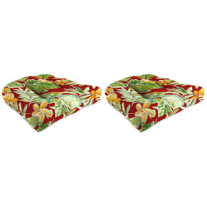 Beachcrest Poppy 18 x 18 Inches Wicker Seat Cushion, Set of Two
