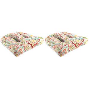 Mallitta Papaya Outdoor Chair Cushion, Set of Two