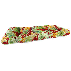 Beachcrest Poppy 18 x 44 Inches Outdoor Wicker Settee Cushion