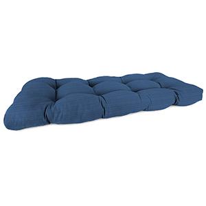 Dupione Stripe Galaxy 44-Inch x 18-Inch x 4-Inch Outdoor Wicker Settee Cushion- 1-Pack