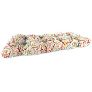 Mallitta Papaya Outdoor Wicker Settee Cushion