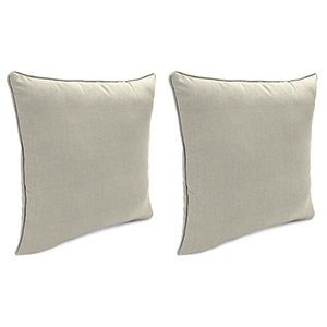 Spectrum Dove 18-Inch x 18-Inch Outdoor Toss Pillows with Welt- Set of 2