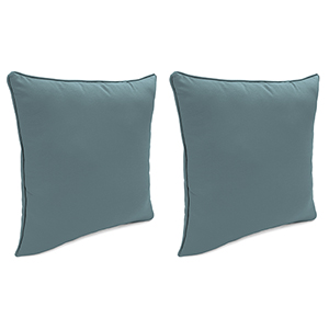 Cast Lagoon 18-Inch x 18-Inch Outdoor Toss Pillows with Welt- Set of 2