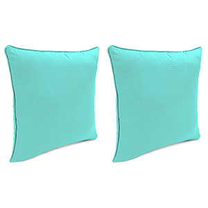 Sailcloth Aruba Rain 18-Inch x 18-Inch Outdoor Toss Pillows with Welt- Set of 2