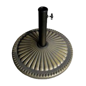 Bases Gold Concrete Round Umbrella Base