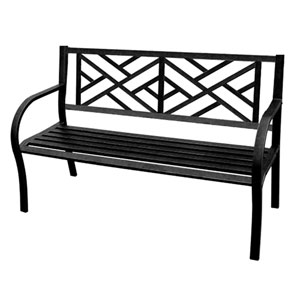 Steel Benches Black Maze Park Bench