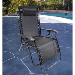 Black Extra Large Zero Gravity Chair
