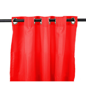 Outdoor Curtains 54-Inch x 84-Inch Cherry Solid Polyester Outdoor Curtain