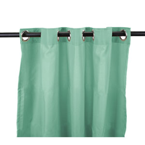 Outdoor Curtains 54-Inch x 84-Inch Spa Solid Polyester Outdoor Curtain