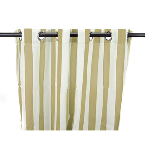 Outdoor Curtains 54-Inch x 84-Inch Linen Stripe Polyester Outdoor Curtain