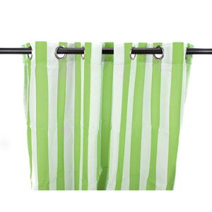 Outdoor Curtains 54-Inch x 96-Inch Kiwi Stripe Polyester Outdoor Curtain