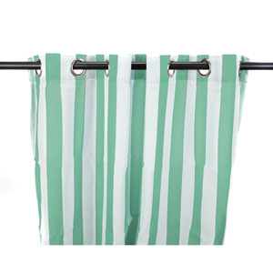 Outdoor Curtains 54-Inch x 96-Inch Spa Stripe Polyester Outdoor Curtain