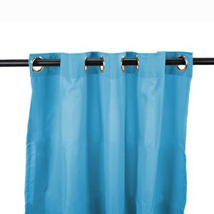 Caribbean Blue Outdoor Curtain Panel