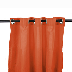 Tangerine Outdoor Curtain Panel