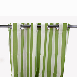 Sage Green Stripe Outdoor Curtain Panel