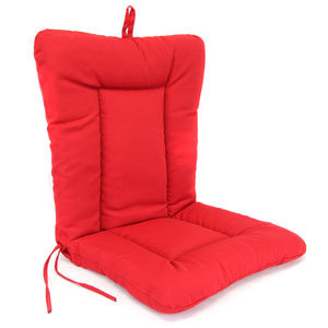 Pompei Red Euro Style Chair Cushion