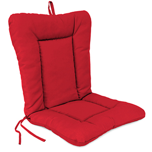 Euro Style Canvas Jockey Red Chair Cushion