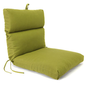 Olive Universal Chair Cushion with French Edge