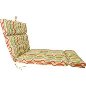 Seaweed Twist Pattern Universal Chaise Cushion with French Edge