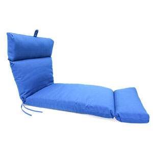 Pacific Blue Universal Chaise Cushion with French Edge