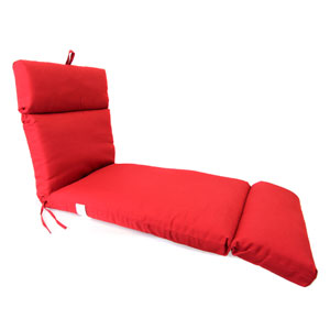 Pompei Red Universal Chaise Cushion with French Edge