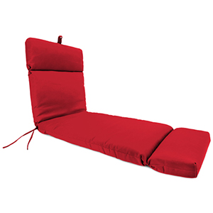 Universal Canvas Jockey Red Chaise Lounge Chair Cushion