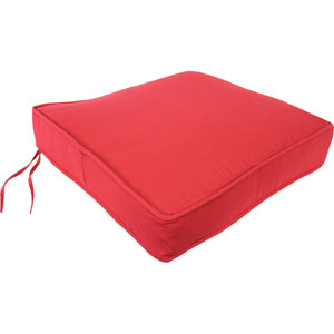 Pompei Red Pattern Deep Seating Cushion - Seat Only