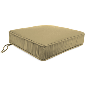 Canvas Heather Beige Boxed Seat Cushion