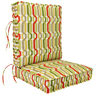 Seaweed Twist Pattern Deep Seating Cushion-Seat and Back