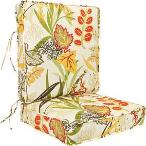 Seaweed Pattern Deep Seating Cushion-Seat and Back