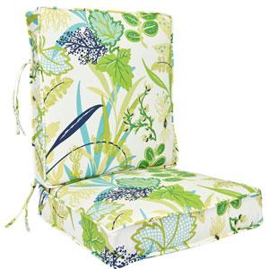 Aquamarine Seaweed Pattern Deep Seating Cushion-Seat and Back