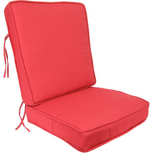 Pompei Red Deep Seating Cushion-Seat and Back
