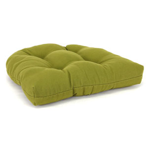 Olive Wicker Chair Cushion With Sewn in Buttons