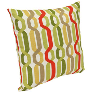 Outdoor Toss Pillows Seaweed Twist Pattern 16-Inch Square Toss pillow