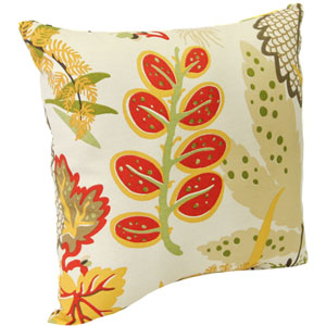 Outdoor Toss Pillows Seaweed Pattern 16-Inch Square Toss pillow
