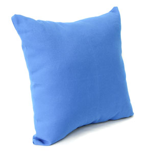 Outdoor Toss Pillows Pacific Blue 16-Inch Square Toss pillow