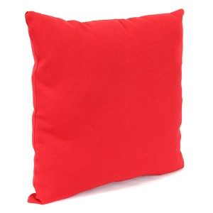 Outdoor Toss Pillows Pompei Red 16-Inch Square Toss pillow
