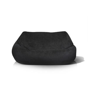 Plush 2 Seater Black Bean bag