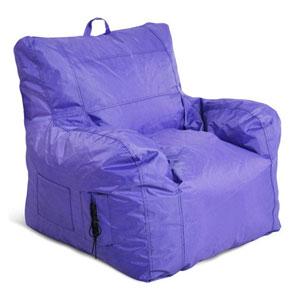 Large Arm Chair Purple Bean bag