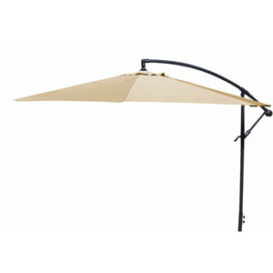 Offset Umbrellas Khaki 10-Foot Steel Offset Umbrella