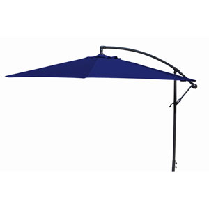 Offset Umbrellas Navy 10-Foot Steel Offset Umbrella