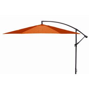 Offset Umbrellas Orange 10-Foot Steel Offset Umbrella
