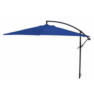 Offset Umbrellas Royal Blue 10-Foot Steel Offset Umbrella