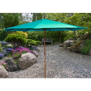 Aruba 9-Foot Wooden Market Umbrella