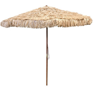 Natural Wooden Hula Umbrella