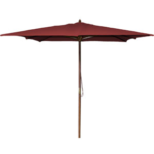 Square Market Umbrellas Burgundy 8.5-Foot Square Wood Umbrella