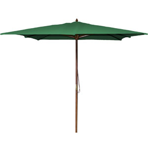 Square Market Umbrellas Green 8.5-Foot Square Wood Umbrella
