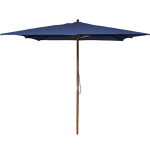 Square Market Umbrellas Navy 8.5-Foot Square Wood Umbrella