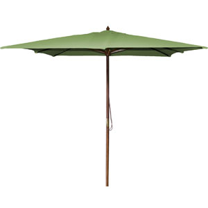 Square Market Umbrellas Olive 8.5-Foot Square Wood Umbrella