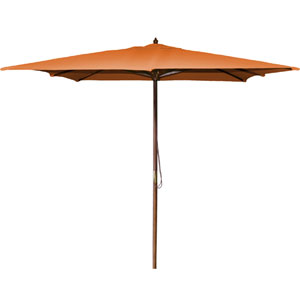 Square Market Umbrellas Orange 8.5-Foot Square Wood Umbrella
